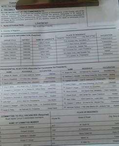 PA Libertarian petition form